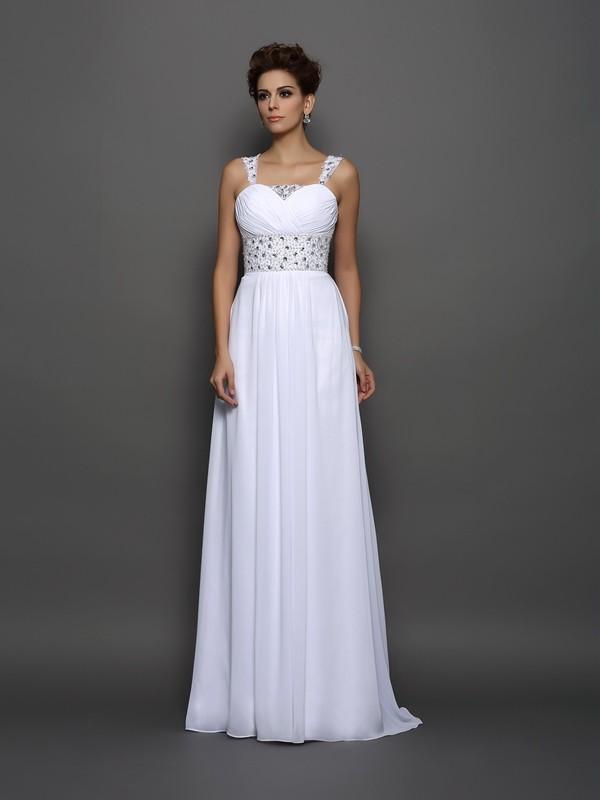 455717c19 Corte en A/Princesa Tirantes Abalorios Sin Mangas Largo Gasa Vestidos de  Novia