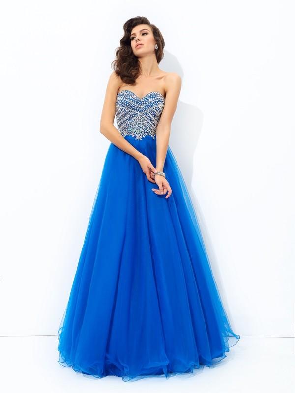 51818dd8987ad Corte en A Princesa Escote de Corazón Lentejuelas Sin Mangas Largo Malla  Vestidos