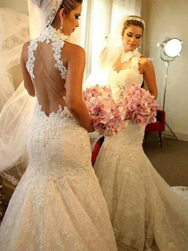 Vestidos de novia corte trompeta con encaje