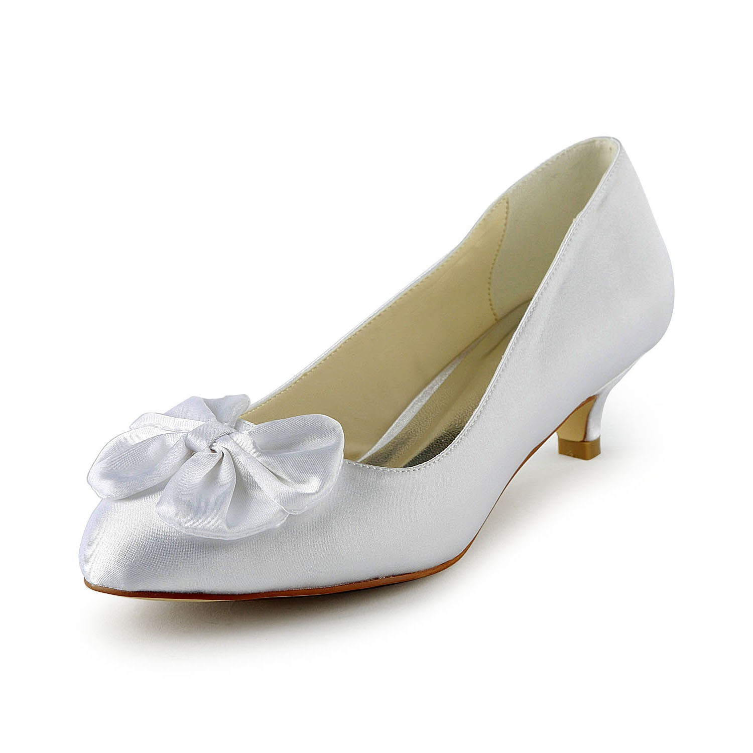 white wedding shoes de las sat 233 n kitten heel pumps con lazos blanco 1368