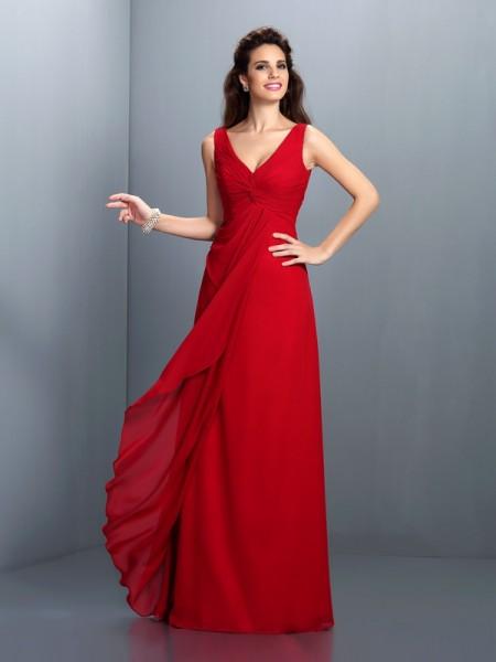 Rojo Vestidos De Dama De Honor Hebeoses