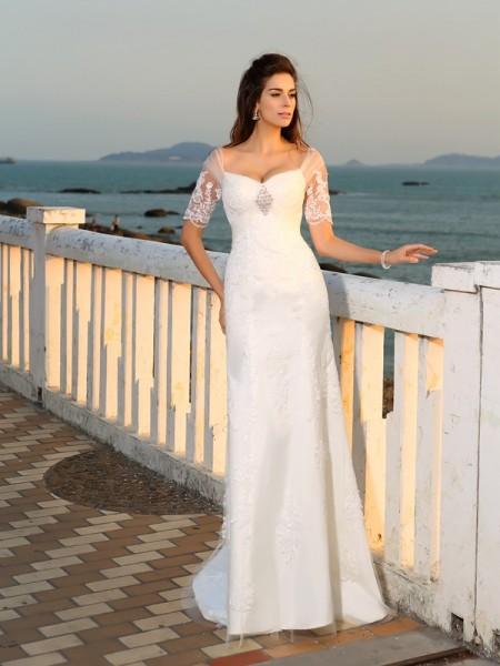 Vestidos largos para boda en la playa