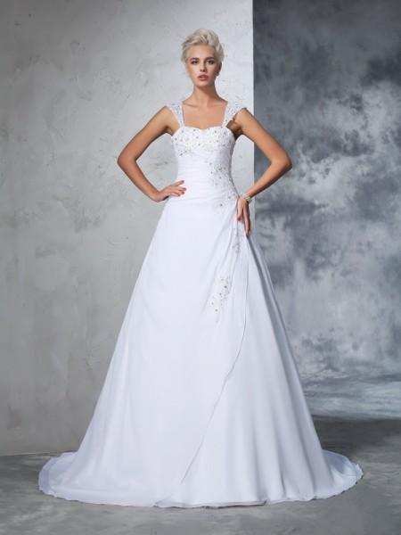 Vestidos de novia sin cola 2018