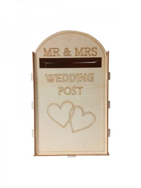 Precioso buzón de madera para bodas