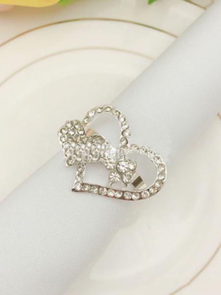 Bonita aleación con servilleteros de diamantes de imitación (12 piezas)