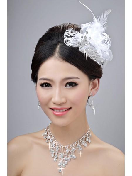 Maravilloso Aleación Clear Cristales Tocados de boda Collares pendientes determinados