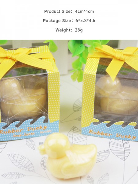 Regalos de boda-Jabones de pato lindo (5 piezas)
