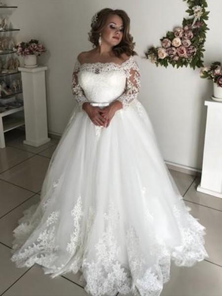 barato para descuento gama exclusiva venta profesional A-Line/Princess Vestidos de Novia Dos Piezas - Hebeos.es