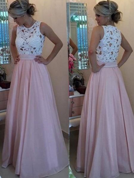 d1f1391cf Corte en A Princesa Sin Mangas Escote en U Hasta el Suelo Apliques Organza  Vestidos