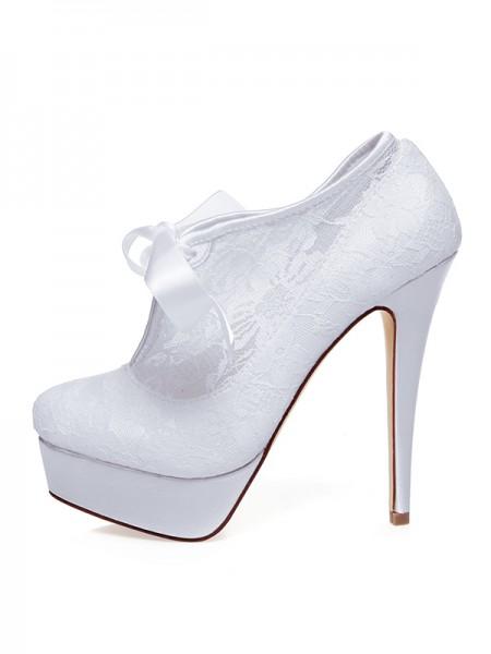 De las mujeres Satén Punta Cerrada Silk Tacón de Aguja Zapatos de boda